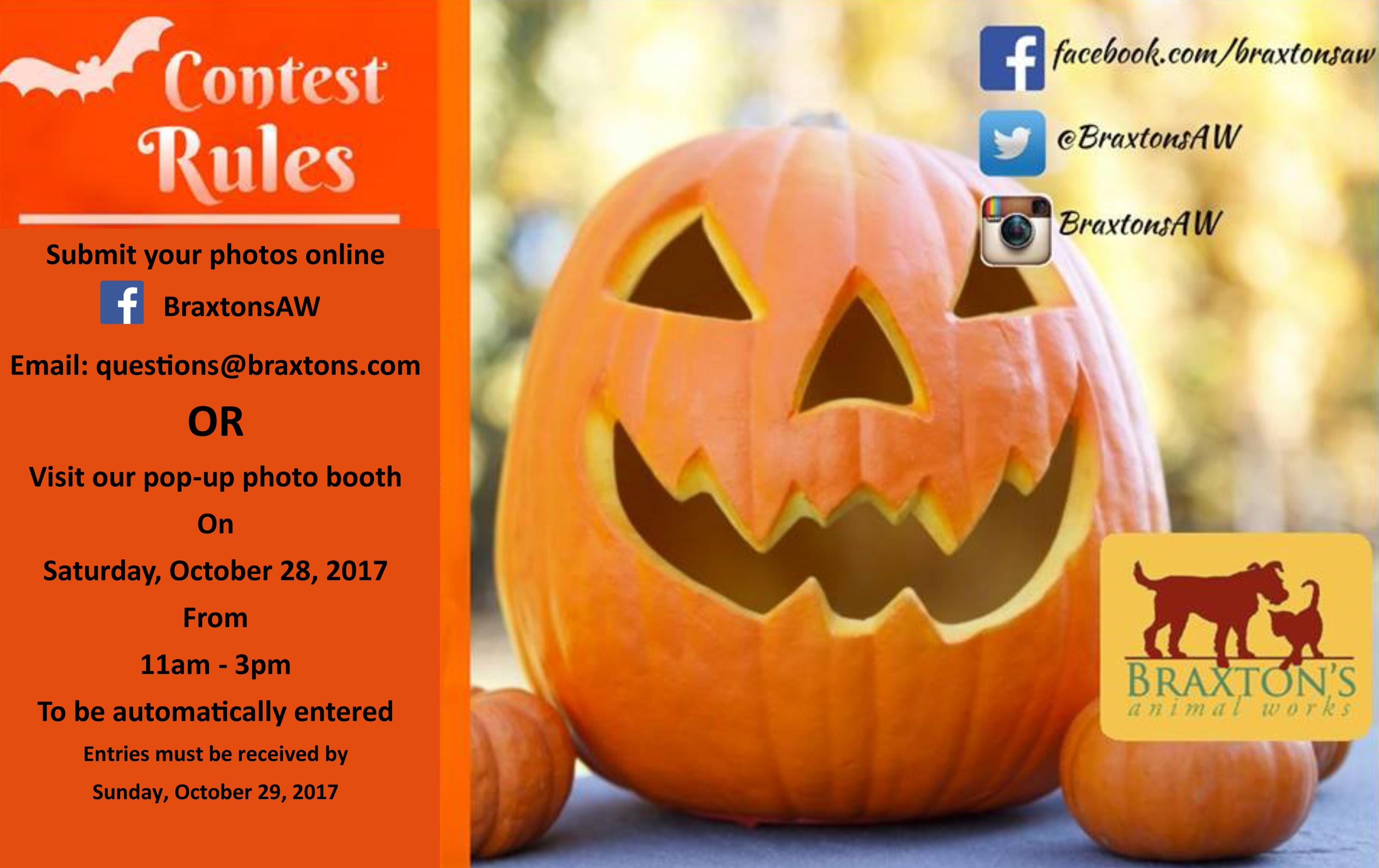 braxton's halloween contest - enter now! • braxtons animal works